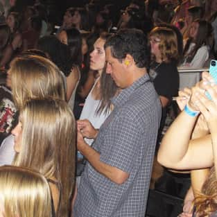 Dad at One Direction Concert