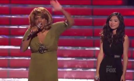 Jessica Sanchez and Jennifer Holliday American Idol Duet