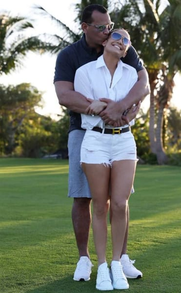 A. Rod with J. Lo