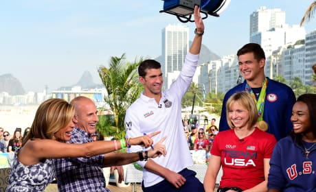 US Swim Team Today Show Pic