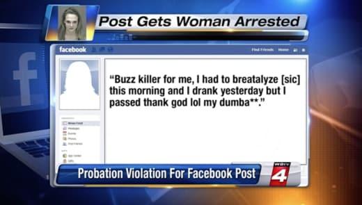 Facebook Post Arrest