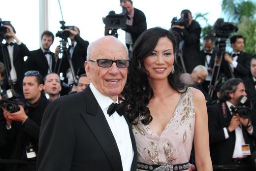 Rupert Murdoch and Wendi Deng Pic