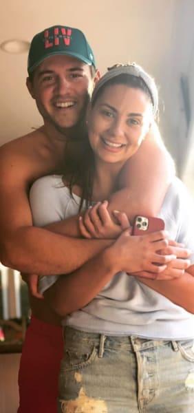 Kelley Flanagan with Her Man