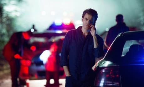 Stefan Is On The Case On The Vampire Diaries Season 8 Episode 1