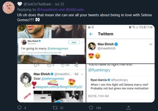Max Ehrich is Over Tweets - she can see your Selena tweets