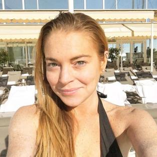 Lindsay Lohan: No Makeup Selfie
