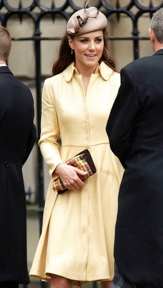 Kate Middleton, Yellow Coat Dress