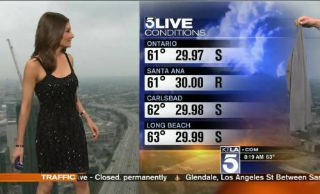 Request for Los Angeles Meteorologist to Cover Up Sparks #Sweatergate