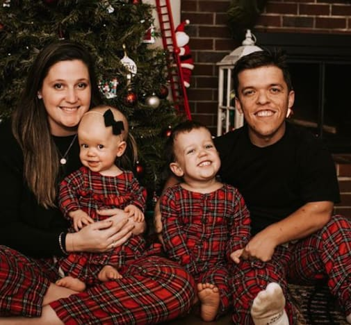 Tori and Zach Roloff on Xmas