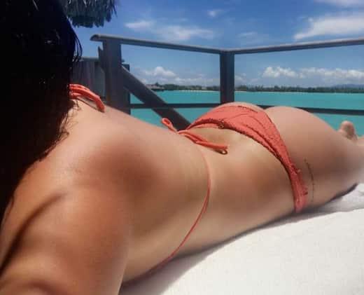 Ariel Winter Orange Bikini