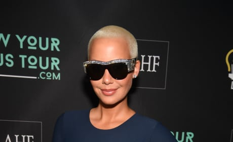 Amber Rose Strikes This Pose