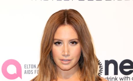 Ashley Tisdale at Oscars Party Close-Up