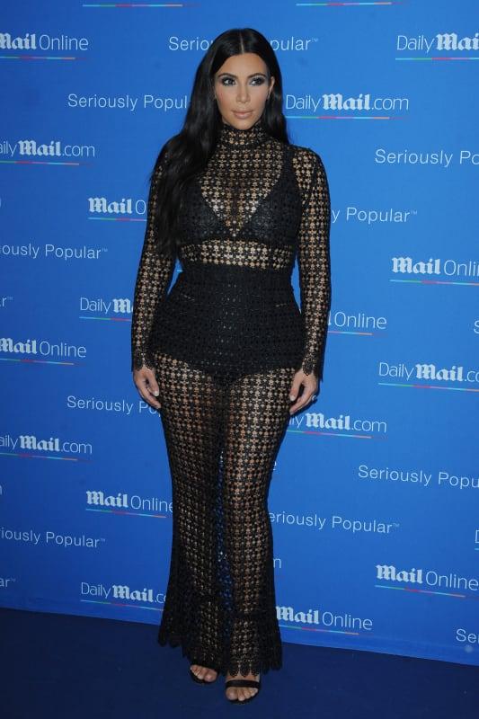 Kim kardashian goes see through