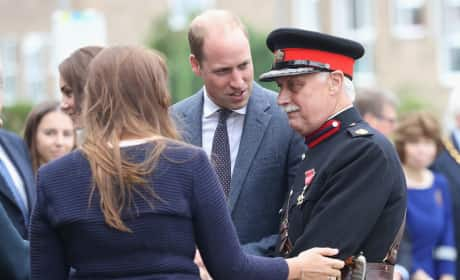 Prince William Chats Vice Lord Lieutenant Essex
