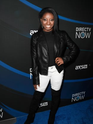 Simone Biles Red Carpet Pic