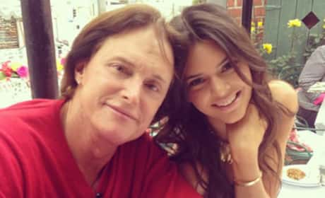 Kendall and Bruce Jenner