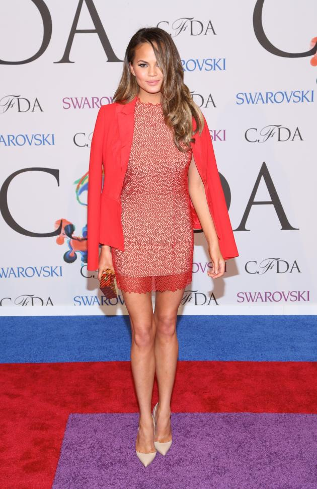 Chrissy Teigen at Fashion Awards