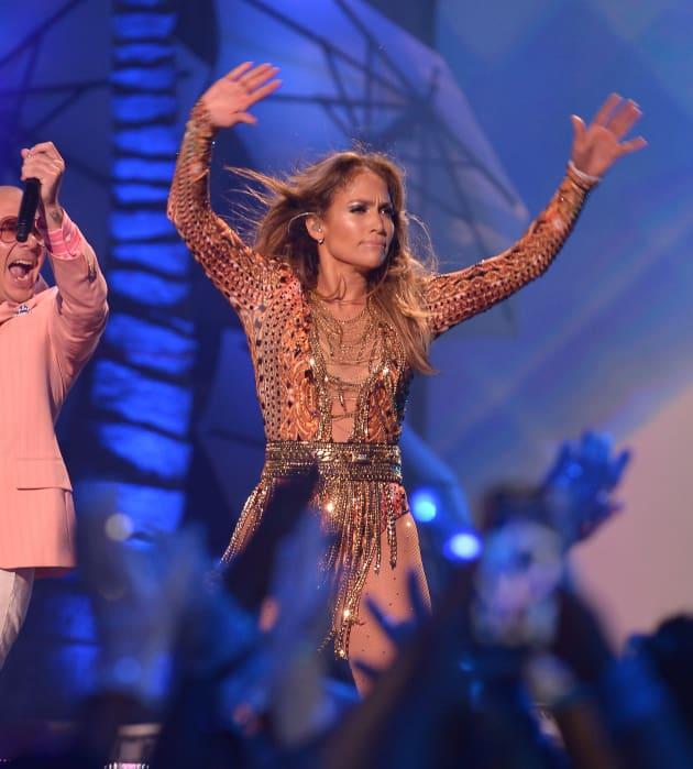 J. Lo on Stage