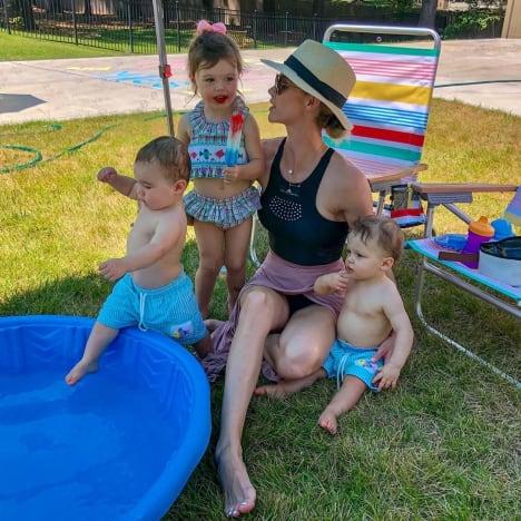 Meghan King Edmonds Family With Kiddie Pool