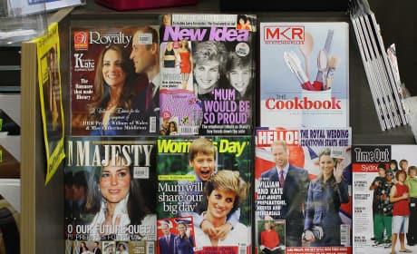 Australian Newsstand Celebrates Will & Kate's Royal Wedding