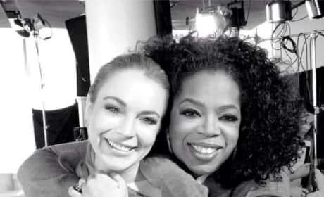 Lindsay Lohan and Oprah Photo
