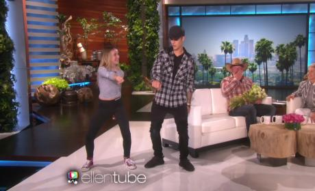 Justin Bieber Surprises Young Fan, Dances with Her