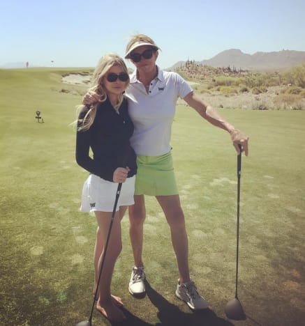 Sophia Hutchins and Caitlyn Jenner, Golfing