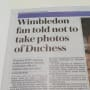 Wimbledon newspaper article
