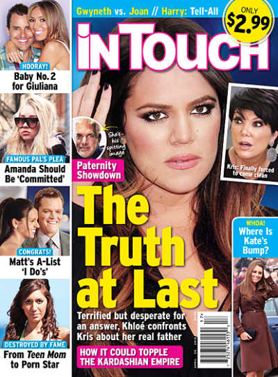 Khloe Kardashian Tabloid Kover