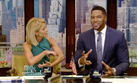 Kelly Ripa and Michael Strahan on Live