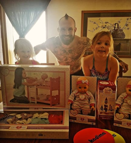 Adam Lind and His Daughters
