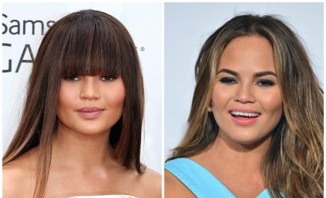 9 Celebrities With and Without Bangs