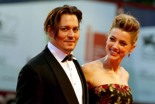 Johnny Depp, Amber Heard: Venice Film Festival Photo