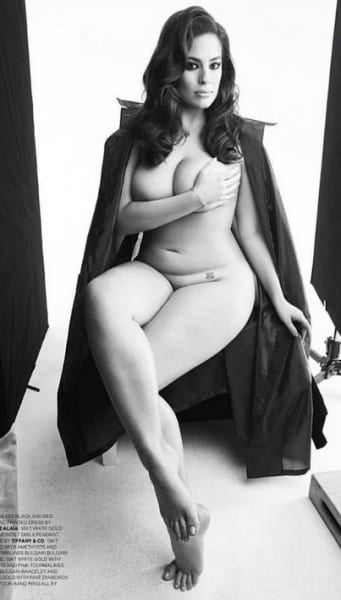Ashley Graham Goes Nude