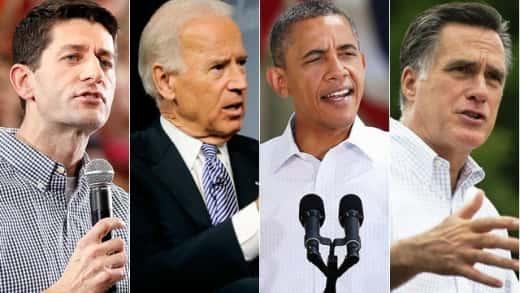 Romney, Ryan, Obama, Biden
