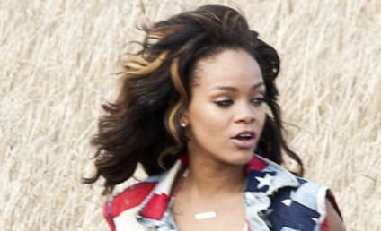 """Rihanna Gets Patriotic For """"We Found Love"""" Video"""