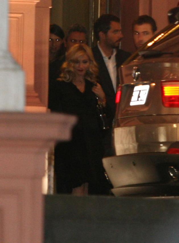 Madonna Enjoys Local Fare