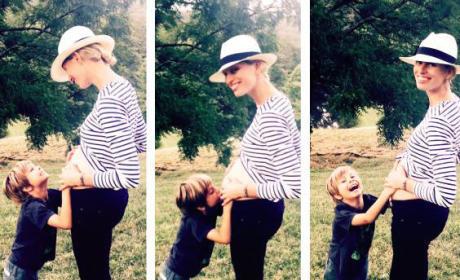Karolina Kurkova Pregnancy Photos