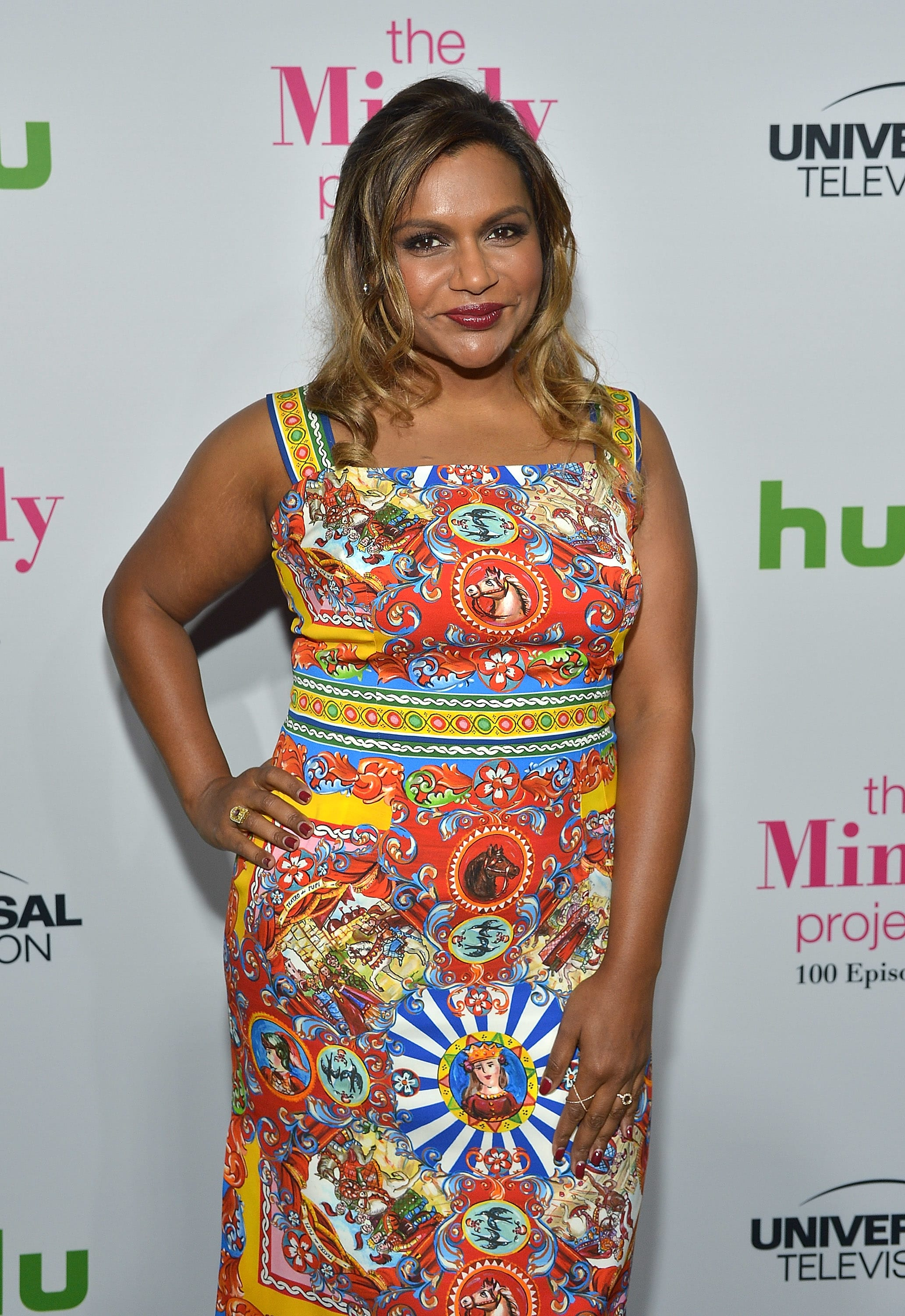 Mindy Kaling In A Dress The Hollywood Gossip