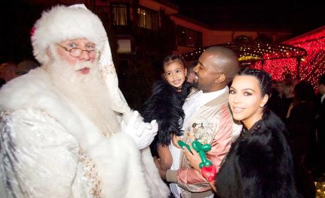 North West and Santa