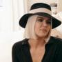 Khloe kardashian wears a stylish hat