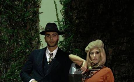 Younes Bendjima and Kourtney Kardashian, Halloween 2017