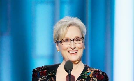 Meryl Streep at the Globes