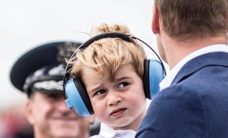 Prince George Ear Phones Pic