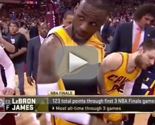 LeBron James Flashes Penis on Live TV