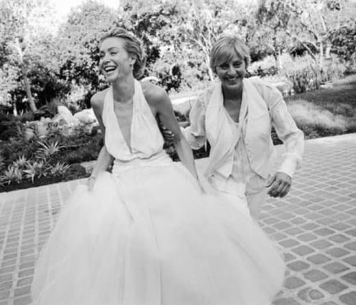 Portia De Rossi Wedding Gown: Ellen DeGeneres And Portia De Rossi Gush Over 9 Year