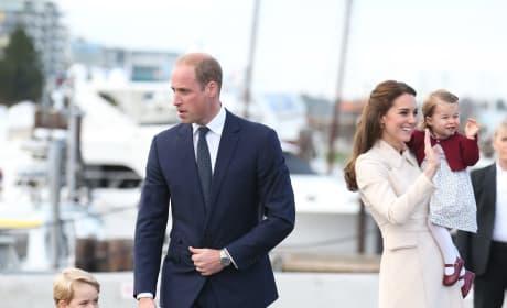 Will Kate George Charlotte Wave Goodbye Canada