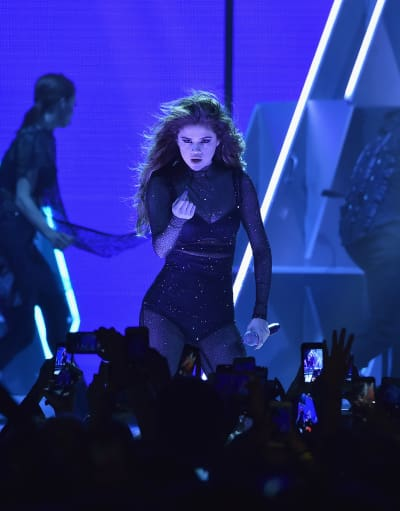 Selena Gomez on Stage in NYC