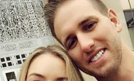 Nikki Ferrell & Tyler Vanloo With Their Marriage License