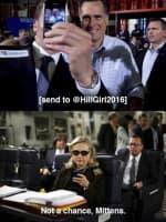 Mitt Romney and Hillary Clinton Texting